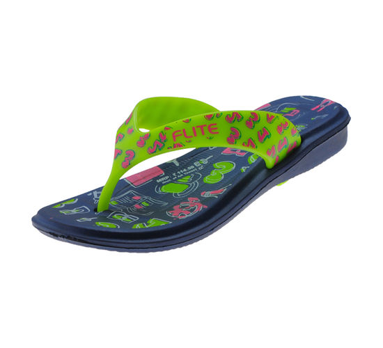 FLITE N.BLUE/FL.GREEN KIDS HOMEUSE  SLIPPERS_FL KIDS-67D