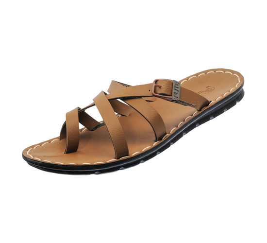 PU- FLITE CAMEL GENTS CASUALS  SLIPPERS_PUG-30