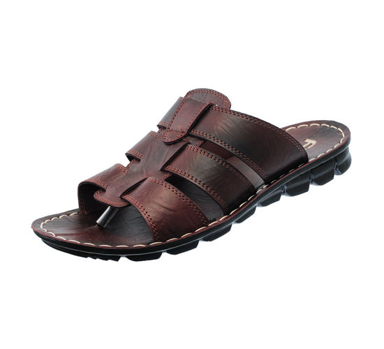 PU- FLITE BROWN/BROWN GENTS CASUALS  SLIPPERS_PUG-32
