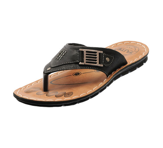 PU- FLITE BLACK GENTS CASUALS  SLIPPERS_PUG-34