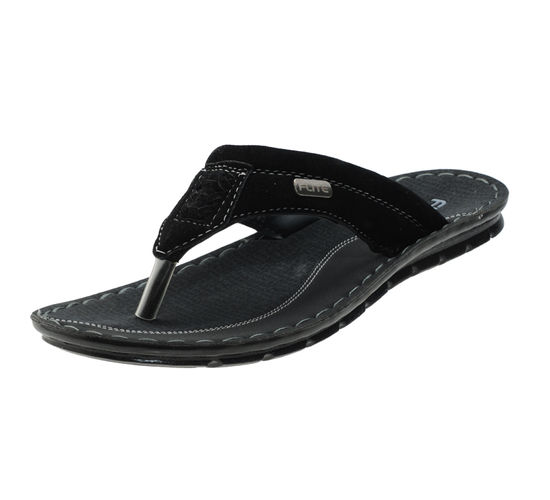 PU- FLITE BLACK/GREY GENTS CASUALS  SLIPPERS_PUG-48
