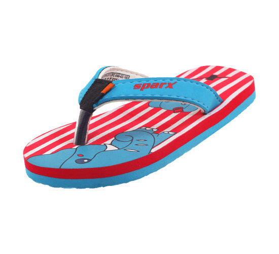 SPARX RED/WHITE KIDS CASUALS SLIPPERS_SFK-517