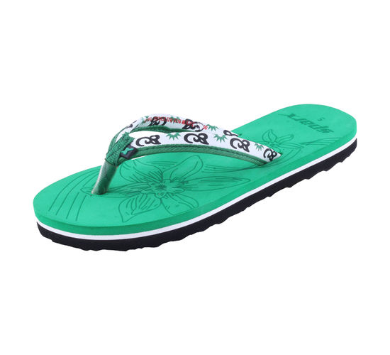 SPARX GREEN LADIES CASUALS SLIPPERS_SFL-1127