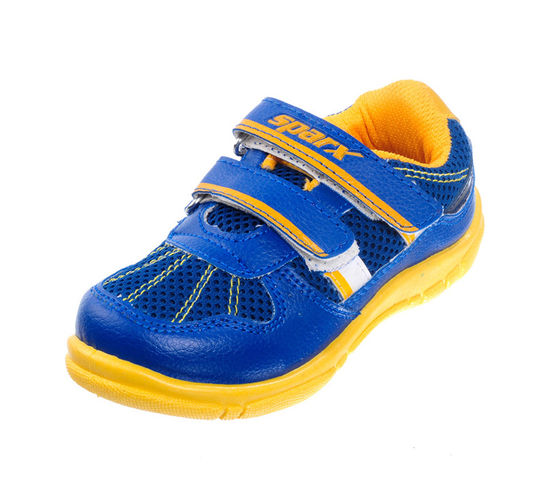SPARX S.BLUE/YELLOW KIDS CASUALS SHOES_SK-510