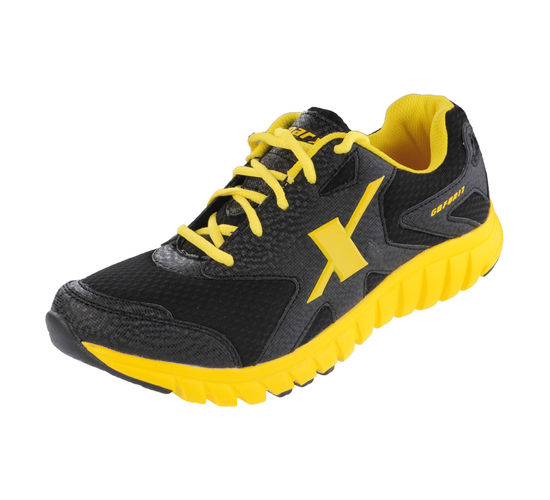 SPARX BLACK/YELLOW GENTS SPORTS SHOES_SM-185