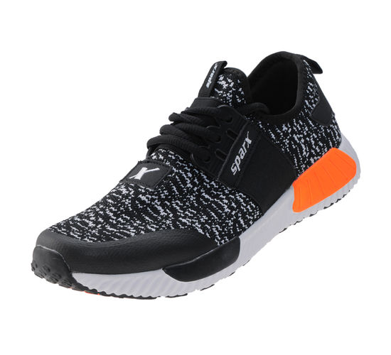 SPARX BLACK/WHITE GENTS SPORTS SHOES_SM-264