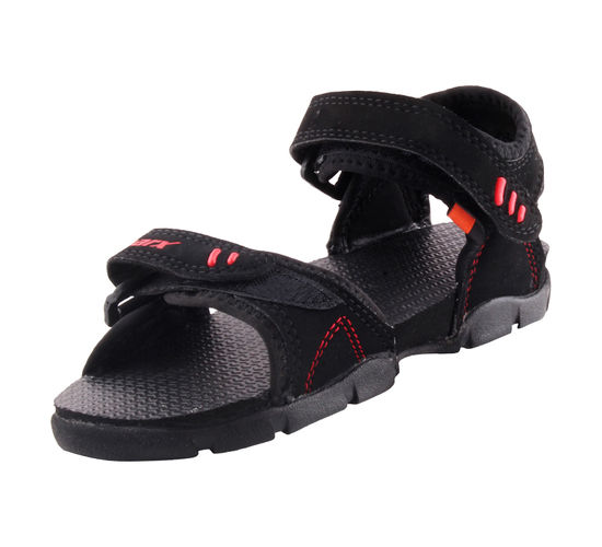 SPARX BLACK/RED KIDS CASUALS SANDALS_SS-101