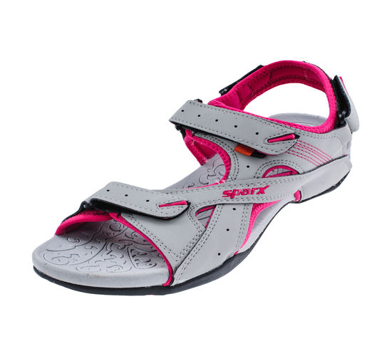 SPARX GREY/PINK LADIES CASUALS SANDALS_SS-432