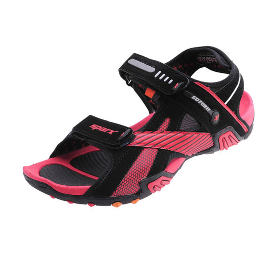 SPARX BLACK/RED GENTS CASUALS SANDALS_SS-433