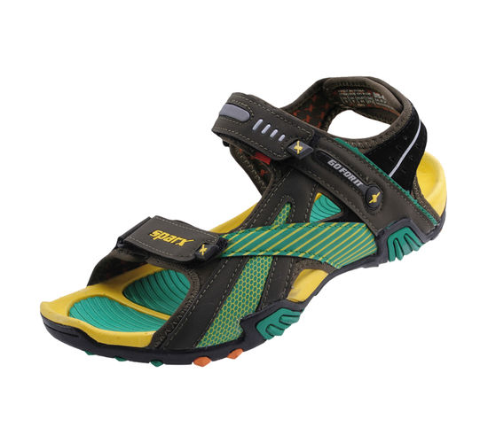 SPARX O.GREEN/YELLOW GENTS CASUALS SANDALS_SS-433