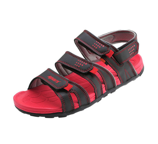 SPARX BLACK/RED GENTS CASUALS SANDALS_SS-434
