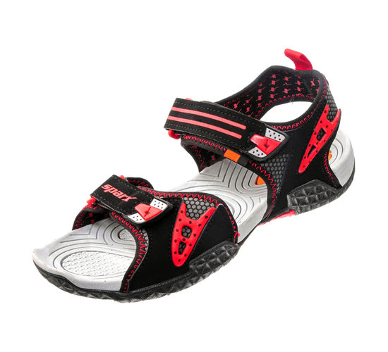 SPARX BLK/RED GENTS CASUALS SANDALS_SS-440