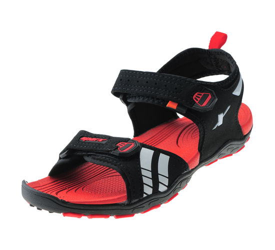 SPARX BLACK/RED GENTS SPORTS  SANDALS_SS-455