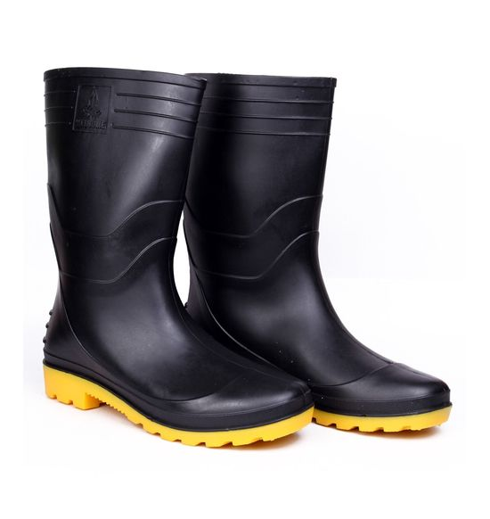 Safety Gumboots - WELCOME - BLACK-YELLOW
