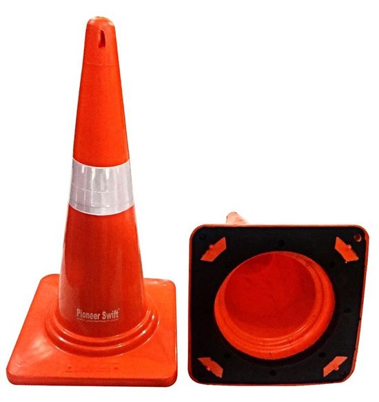 Safety Cone With Rubber Base ( Screw )