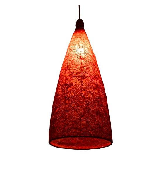SALEBRATIONS HANGING CONE LAMP SHADES YARN WITH HOLES