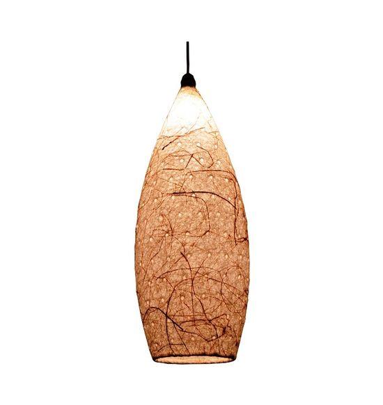 SALEBRATIONS HANGING COCOON LAMP SHADES YARN WITH BANANA FIBER AND HOLES