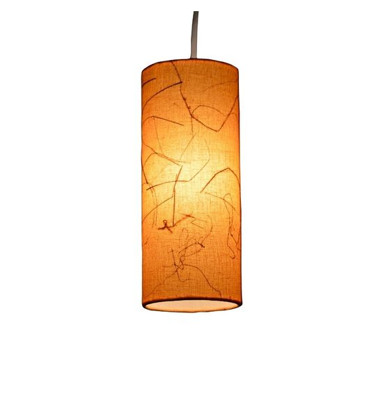SALEBRATIONS HANGING CYLINDRICAL LAMP SHADES FABRIC WITH BANANA FIBER