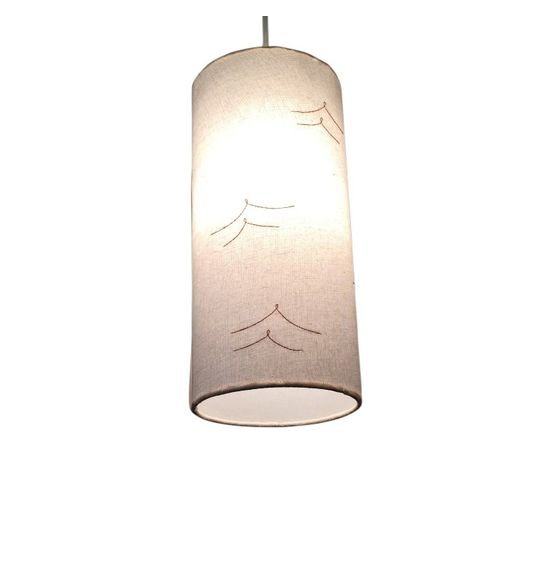 SALEBRATIONS HANGING CYLINDRICAL LAMP SHADES FABRIC WITH BIRDS