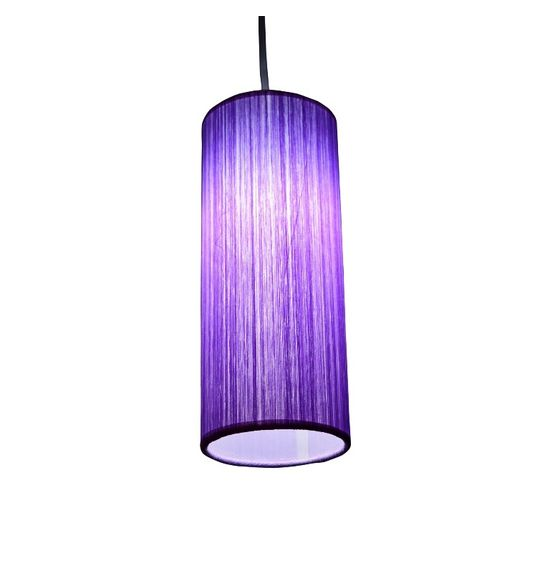 SALEBRATIONS HANGING CYLINDRICAL  LAMP SHADES WITH VERTICAL YARN
