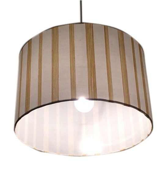 SALEBRATIONS HANGING BIG CYLINDRICAL FULL OPEN LAMP SHADES  WITH YARN STRIPES