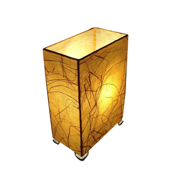 SALEBRATIONS RECTANGLE BOX TABLE LAMP SHADES FABRIC WITH BANANA FIBER