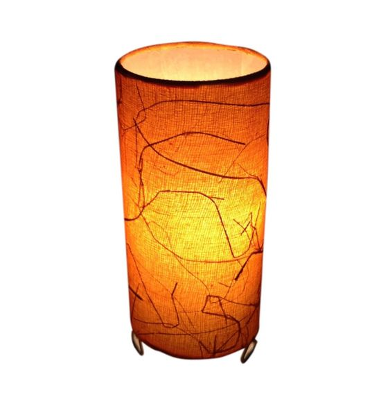 SALEBRATIONS CYLINDERICAL TABLE LAMP SHADES FABRIC WITH BANANA FIBER