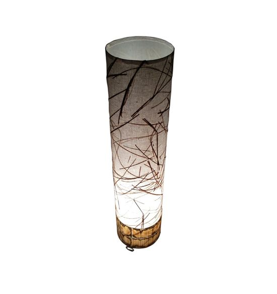 SALEBRATIONS CHANGING CYLINDRICAL TABLE LAMP SHADES FABRIC WITH BANANA FIBER
