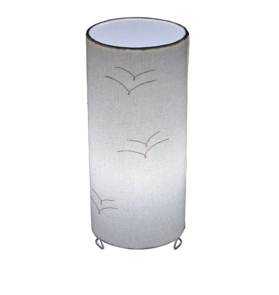 SALEBRATIONS CYLINDRICAL TABLE LAMP SHADES FABRIC WITH BIRDS