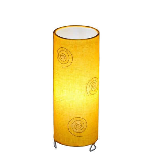 SALEBRATIONS CYLINDRICAL TABLE LAMP SHADES FABRIC WITH WINDINGS