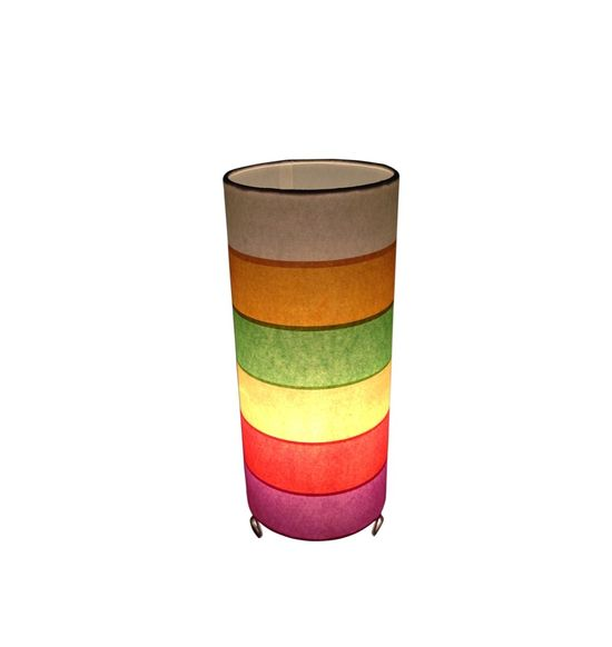 SALEBRATIONS CYLINDRICAL TABLE LAMP SHADES WITH RECTANGULAR CUT HORIZONTAL SHOJI PAPER