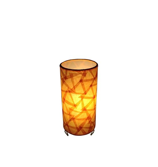 SALEBRATIONS CYLINDRICAL TABLE LAMP SHADES WITH TRIANGULAR CUT SHOJI PAPER