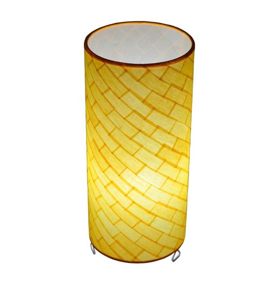 SALEBRATIONS CYLINDRICAL TABLE LAMP SHADES RECTANGULAR CUT WAVE SHOJI PAPER