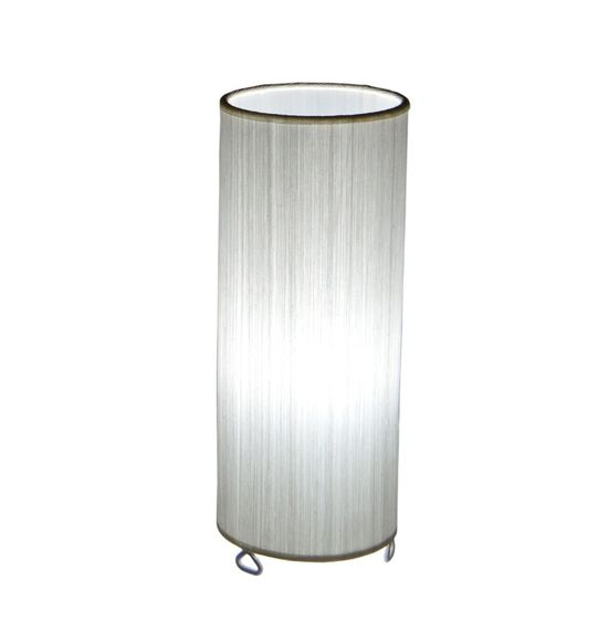 SALEBRATIONS CYLINDRICAL TABLE LAMP SHADES WITH VERTICAL YARN