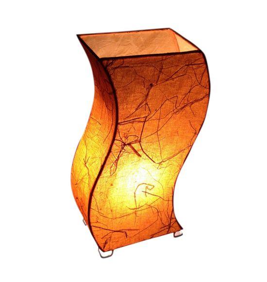 SALEBRATIONS Z TOWER TABLE LAMP SHADES FABRIC WITH BANANA FIBER