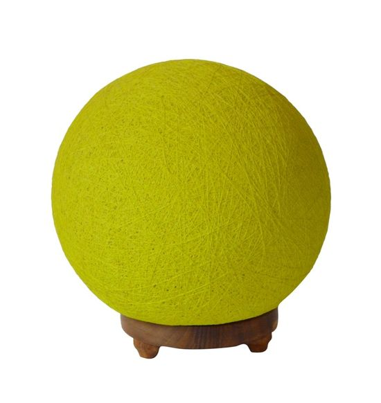 SALEBRATIONS BALL TABLE LAMP SHADES YARN WITH WOODEN BASE