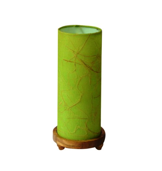 SALEBRATIONS CYLINDRICAL TABLE LAMP SHADES FABRIC WITH BANANA FIBER AND WOODEN BASE
