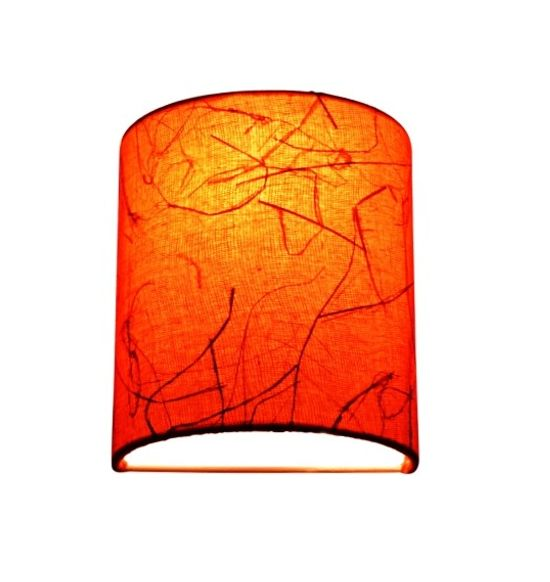 SALEBRATIONS SEMI CYLINDRICAL WALL LAMP SHADES WITH FABRIC AND BANANA FIBER