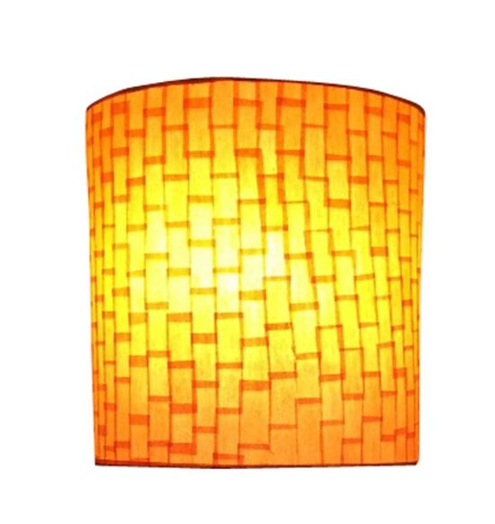 SALEBRATIONS SEMI CYLINDRICAL WALL LAMP SHADES WITH VERTICAL RECTANGLE CUT SHOJI PAPER