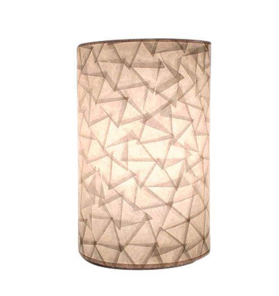 SALEBRATIONS SEMI CYLINDRICAL WALL LAMP SHADES WITH TRIANGULAR CUT SHOJI PAPER