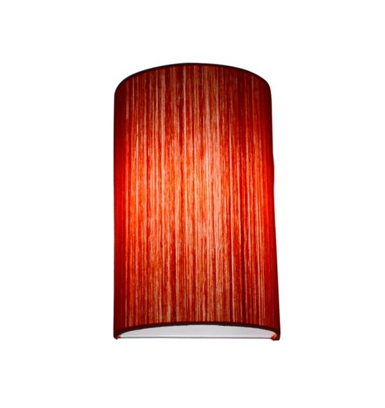 SALEBRATIONS SEMI CYLINDRICAL WALL LAMP SHADES WITH VERTICAL YARN