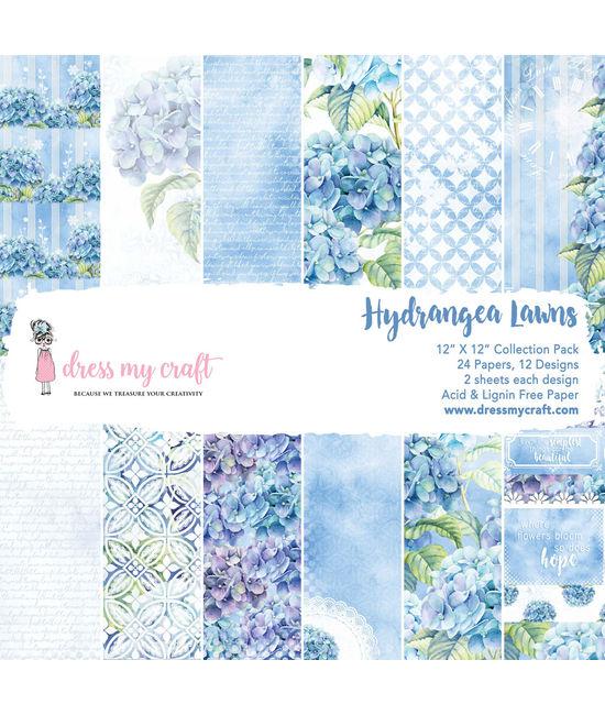 """Hydrangea Lawns - 12""""X12"""" Paper Pad"""
