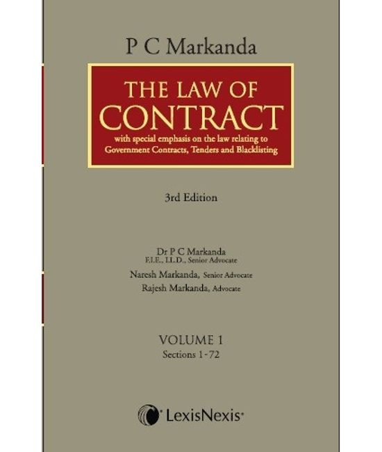 The Law of Contract - With Special Emphasis on the law relating to Government contracts, Tenders and Blacklisting (Set of 2 Vols.)