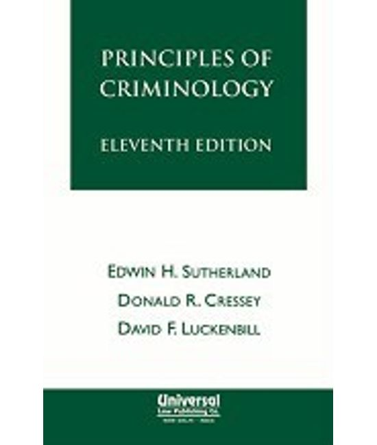 Principles of Criminology, 11th Edn., (First Indian Reprint)