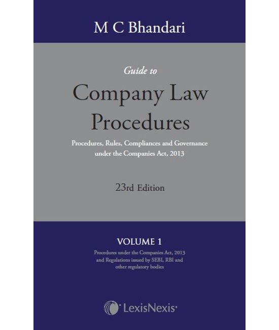 M C Bhandari?s Guide to Company Law Procedures, 23/e (Set of 4 Volumes)