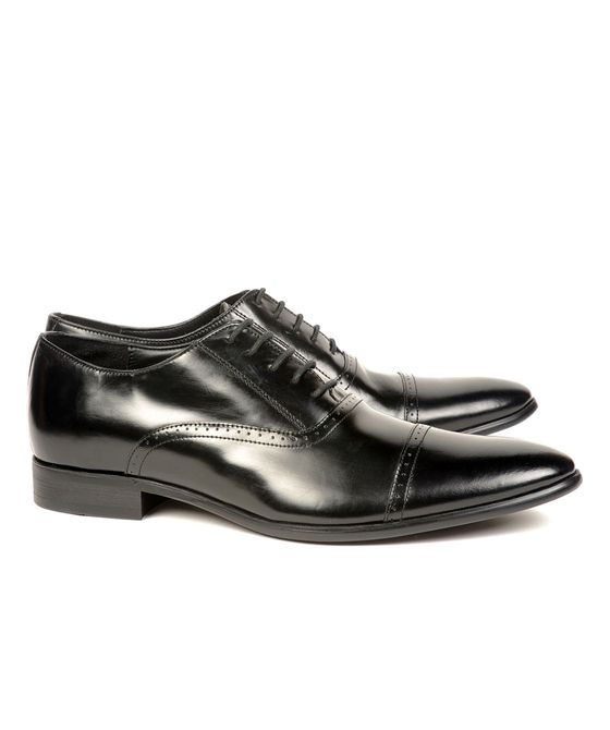 Leatherplus Black Formal Lace up Shoes for Men (12042)