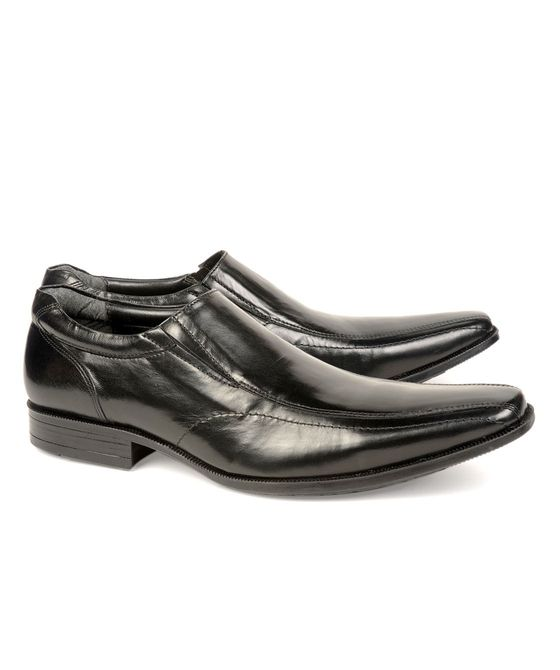 Leatherplus Black Formal Lace up Shoes for Men (12109)