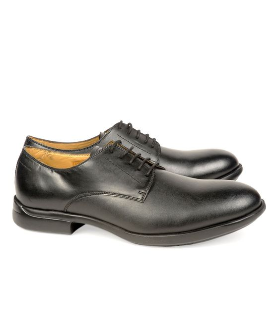 Leatherplus Black Formal Lace up Shoes for Men (12111)