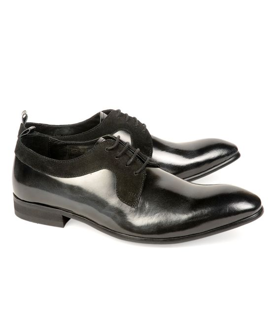Leatherplus Black Party wear Lace up Shoes for Men (12119)