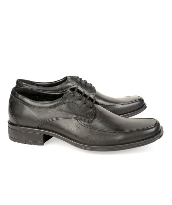 Leatherplus Black Formal Lace up Shoes for Men (12143)